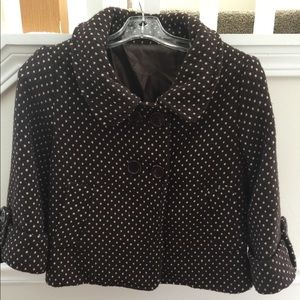 Jackets & Blazers - Vintage brown and white polkadot jacket